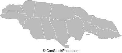 Landkarte, jamaika
