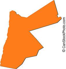mapa, Jordan