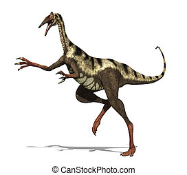 Pelicanimimus Dinosaur - The pelicanimimus was a small...