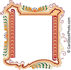 Vector classical style frame