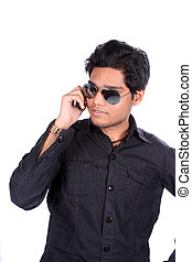 Young Indian Guy on Phone