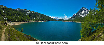 Lake of Codelago (Devero's lake) Devero Alp - panoramic view...