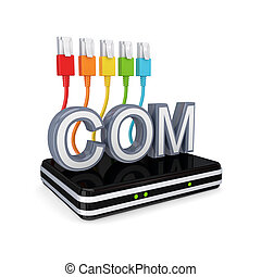 Domain concept.Isolated on white background.3d rendered...