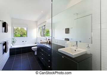 Modern bathroom in stylish Australian house