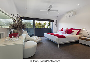 Master bedroom - Stylish master bedroom in luxury Australian...