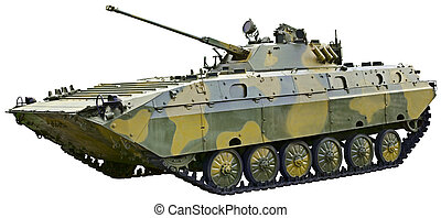 BMP 2 - Soviet fighting vehicle on white background - BMP 2...