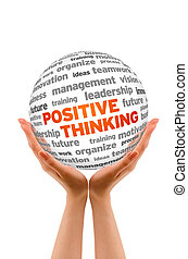 Positive Thinking - Hands holding a Positive Thinking Word...