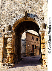 Ancient Etruscan Gate of Volterra in Italy