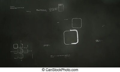 Software Development Blackboard - Animation of a blackboard...