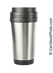 Thermos travel tumbler, cup Closeup