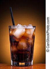 cola drink - fresh cool glass of cola drink with ice