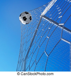 Goal Soccer ball in net