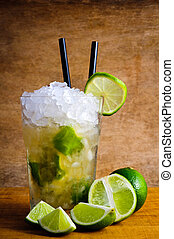 Caipirinha cocktail drink - caipirinha cocktail drink with...