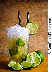 caipirinha, bebida, coquetel