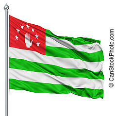 Waving flag of Abkhazia