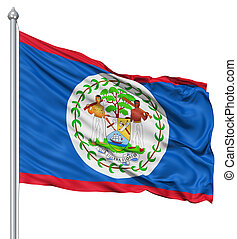 Waving flag of Belize