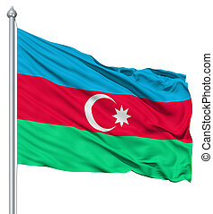 Waving flag of Azerbaijan