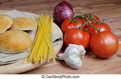 Italian style vegetable ingredients