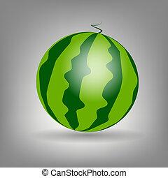 watermelon icon vecotr illustration