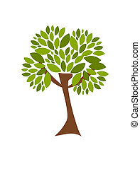 Spring tree - Spring green tree vector illustration