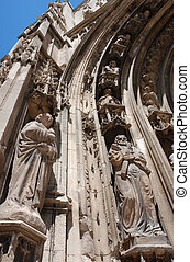 Aix en provence (south of France) - Saint Sauveur Cathedrale...