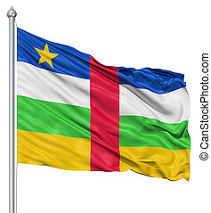 Waving flag of Central African Republic