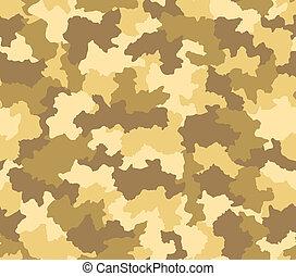 deserto, camuflagem, seamless, Padrão