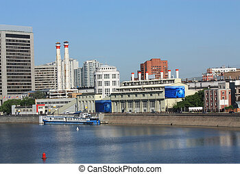 Embankment of Moscow River - Moscow, Krasnopresnenskaya...