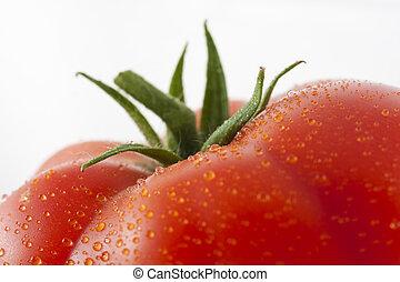 Tomato - Top of fresh wet tomato