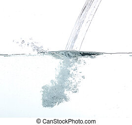 Pouring fresh water over white back