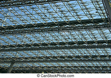 Modern Roof Construction - Roof of a Modern Building made...