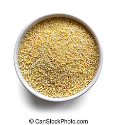 Cous Cous in Bowl over White
