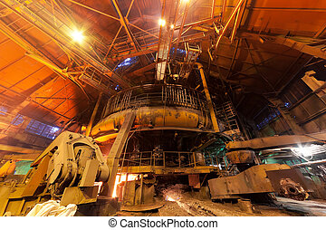 Blast furnace - Working blast furnace at the metallurgical...