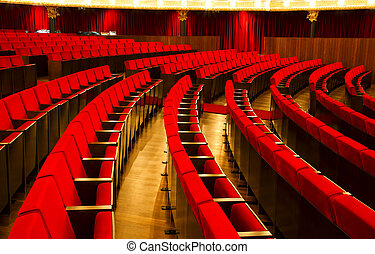 Theater red velvet chairs