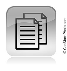 Copy documents web interface icon - Copy documents white,...