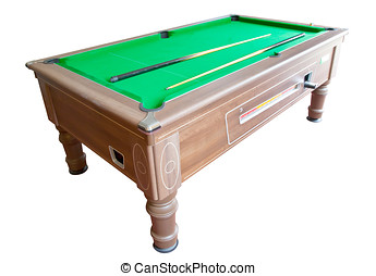 Pool Table - Photo of a pool table isolated on white