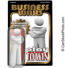 Business Wars Action Figure Dedicated Employee Competitor -...