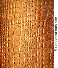 Brown leather texture with patterns in sunlight