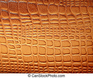 Brown leather texture with patterns