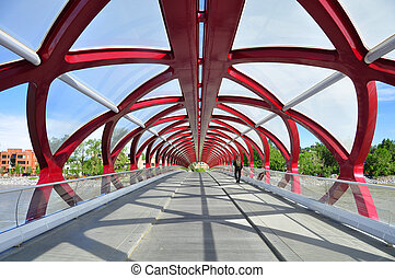 Peace Bridge - Calgarys Peace Bridge which spans the Bow...