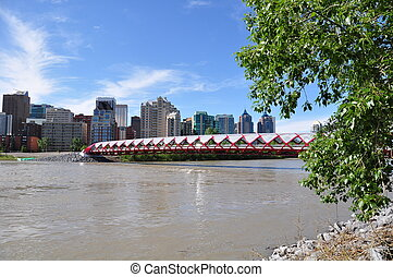 Peace Bridge - Calgary's Peace Bridge which spans the Bow...