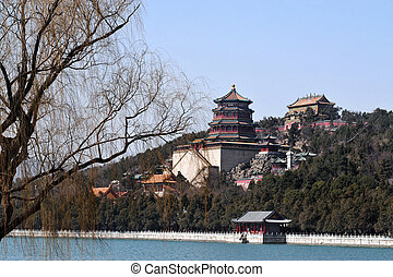 Beijing China - The Summer Palace lake.