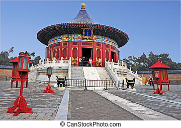 Beijing China - The Temple of Heaven complex.