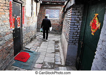 Beijing China - Chinese man in a Hutong.