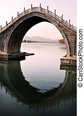 Beijing China - An Arch Bridge at The Summer Palace.