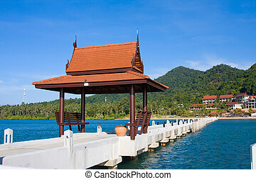 Pier in Thailand - Pier in tropical paradise , Koh Chang...