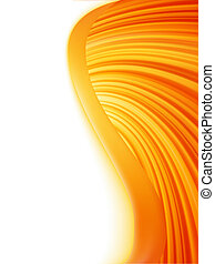 Orange red and white abstract wave burst. EPS 8