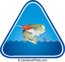 adhesive fishing - sticker with image of fish and bait
