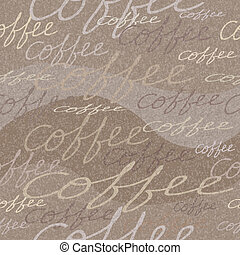 Vector seamless pattern with coffee