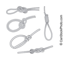 Set of knots - Different types of knots